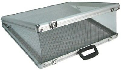 Aluminum Tempered GlassTop Display  Case W/Security Side Panels/Lock