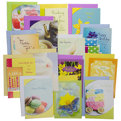48pk of Assorted Greeting Cards With Envelopes Every Occasions Birthday Box Set