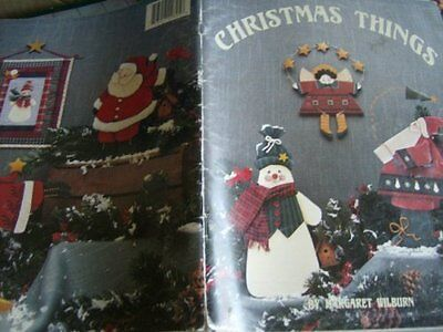 Christmas Things Painting & Quilting Book By Margaret Wilburn Snowmen, Angels
