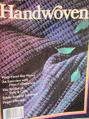 Handwoven Magazine September/October 1988 Peru & Chile, Fingerwoven Scarf