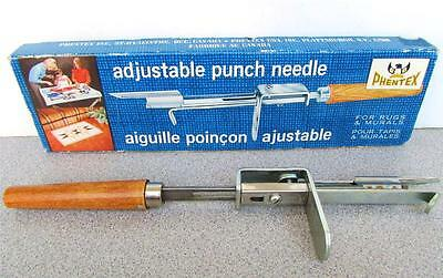 "1970's ""PHENTEX"" ADJUSTABLE PUNCH NEEDLE FOR RUGS & MURALS"