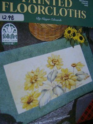 Painted Floorcloths Painting Book -Ginger Edwards, Flowers, Fruits, Village Gorg