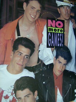 New Kids On The Block No More Games 1990 Tour Program Book