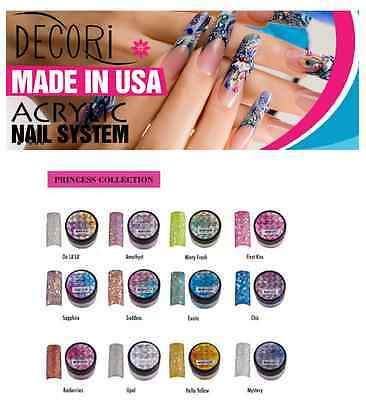 12 pcs Adoro Color Acrylic Powder PRINCESS Collection like Mia Secret Glitter