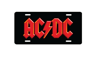 AC/DC Aluminum Novelty License Plate, Custom Printed