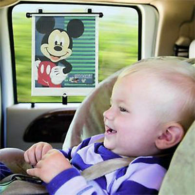 Disney Mickey Mouse Adjust and Lock Car Sun Shade Blind Baby (Pack of 2)