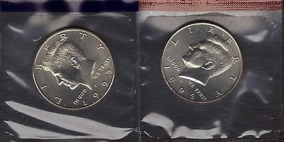 NOT ROLL 1995-P KENNEDY CLAD HALF DOLLAR FROM MINT SET IN CELLO