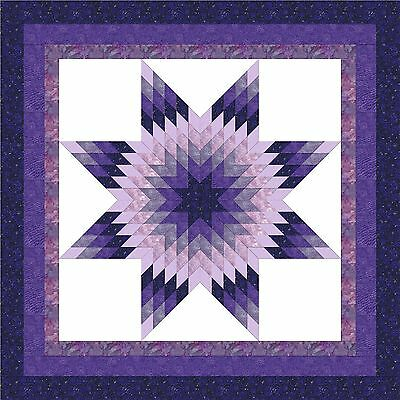 COLOR WHEEL #5- PURPLE STAR Quilt Top - Top Only