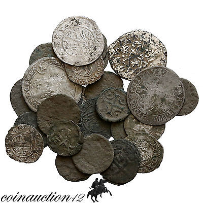 Lot Of 26 Early Medieval & Medieval Silver & Ae Hungary Coins , Most Unclean