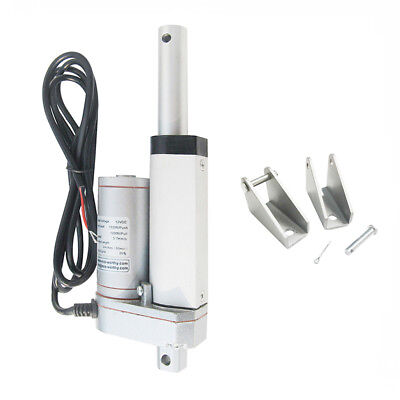 """Heavy Duty Linear Actuator 2"""" Stroke 330 Lb Max Lift Output 12V DC for Machinery"""