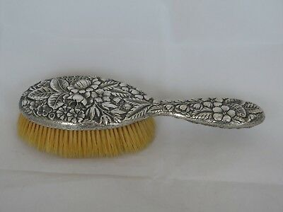 Incredible Antique Gorham Sterling Repousse Large Hair Brush