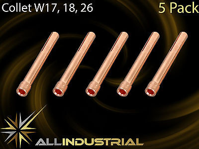 Tig Torch Collet - WP17 WP18 WP26 - 1.6mm 10N23 (5Pack)