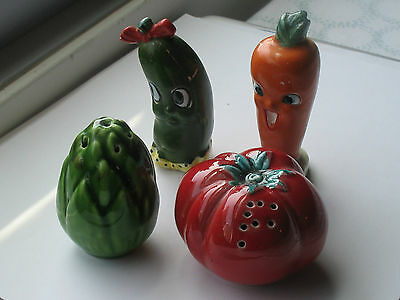 Old Salt and Pepper Shakers Colors Very Antique from 1920's