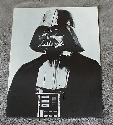 Star Wars Episode IV New Hope DARTH VADER 1977 RARE B&W David Prowse Poster VGEX