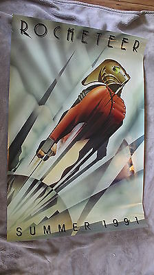 Rocketeer 1991 Alan Arkin Paul Sorvino Dave Stevens Disney Advance Poster VGEX