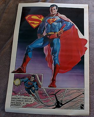 Superman 1977 Campus Craft Thought Factory Canada DC Comics Poster FN