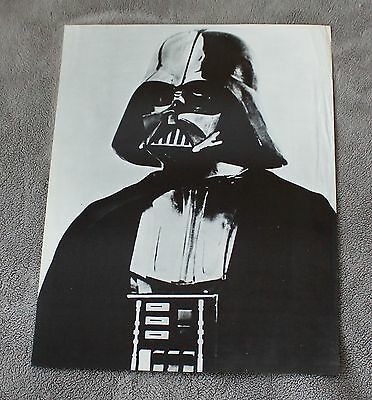Star Wars Episode IV New Hope DARTH VADER 1977 RARE B&W David Prowse Poster VG+