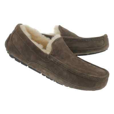 NEW UGG ASCOT MEN's SHEEPSKIN SUEDE MOCCASINS /SHOES, SIZE 18