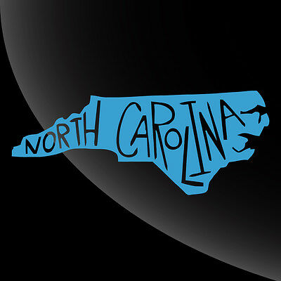 North Carolina NC State Pride Decal Sticker - TONS OF OPTIONS