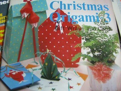 Christmas Origami 3 Book- Make Gift Wraps & Cards