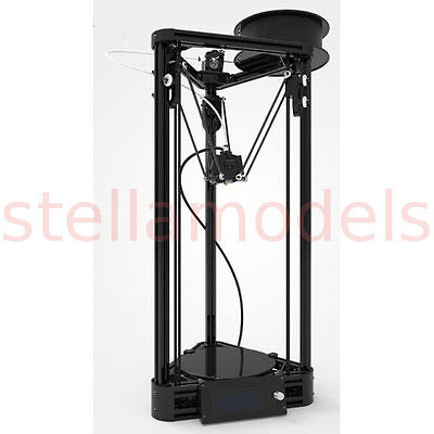 Mini Kossel Delta Full 3D Printer Kit -2020,Dual Fan, Moulded ABS, Auto Leveling