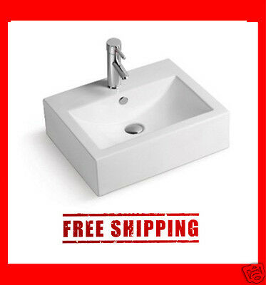 Modern Square Style Bathroom Ceramic sink Vessel Basin Bowl CSA Approved -BSC102
