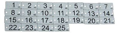 25 Metal Braille Number Clothing Tags for the Blind