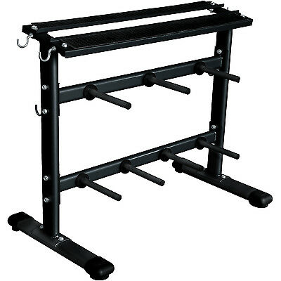 Marcy Standard Weight Plate Disc, Bars & Dumbbell Storage Rack Stand