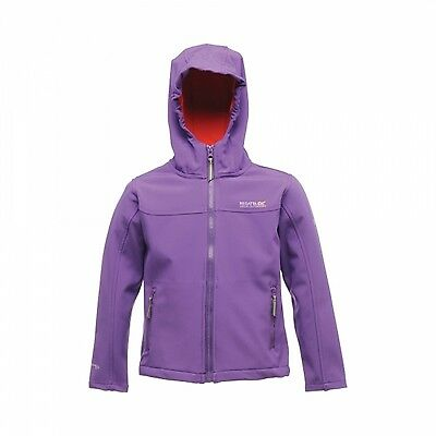 Regatta Tyson II Boys Girls Kids Sporty Water Repellent Hooded Softshell Jacket