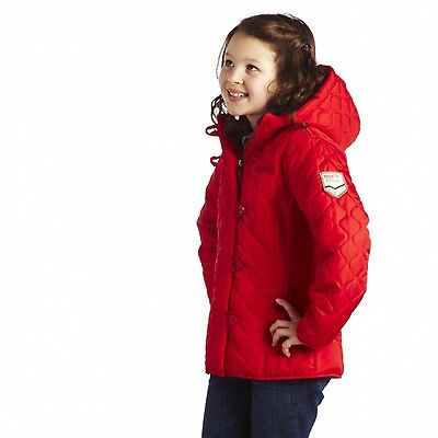 Regatta Kizi Girls Quilted Hooded Water Repellent Fleece Lined Jacket