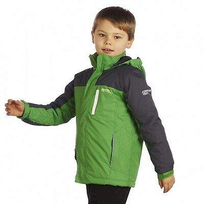 Regatta Lighthouse Boys Warm Padded Insulated Waterproof Jacket Green