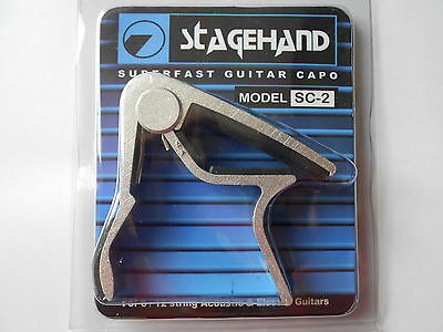 Silver Stagehand Trigger Quick Change  Acoustic Or Electric Guitar Capo