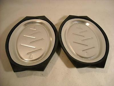 Two Nordic Ware Platter Holders W/ Aluminum Inserts For Fajitas/sizzler Steaks