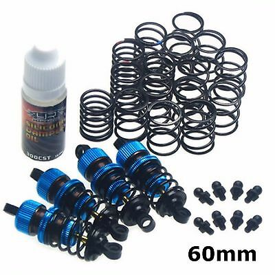 RC Car Alloy 60mm Shock Damper Suspension Set For Tamiya TT-01 TT01 E D R BLUE