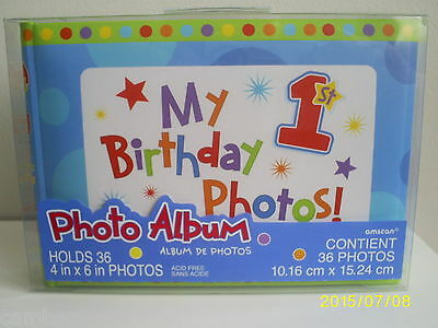 1st Birthday Photo Album-Boy - Holds 36 Photos  - Check Out The Feedback on This