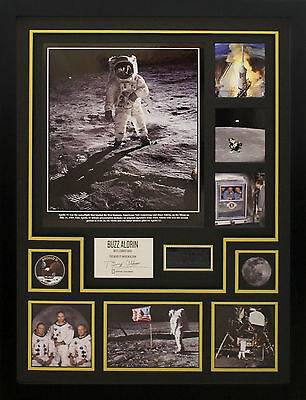 Buzz Aldrin Hand Signed Apollo 11 Display