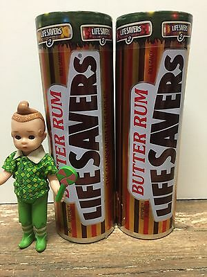 "7"" Life Savers Butter Rum Candy Collector's Tin Set of 2 FULL New 12 Roll Assort"