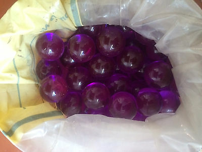 "Purple Acrylic Spheres Plastic Balls 3/4"" Diameter - 6 Pieces Per Bag"