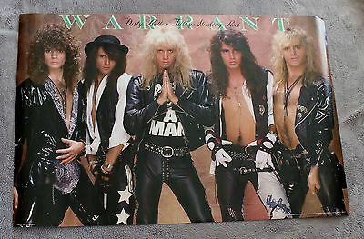 Warrant 1989 Dirty Rotten Filthy Stinking Rich Brockum Glam Metal Poster VGEX C7