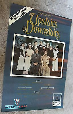 Upstairs Downstairs Best of Gordon Jackson Jean Marsh Video Store TV Poster VGEX