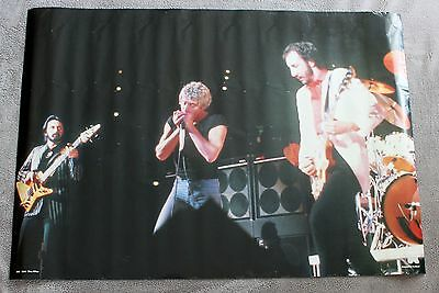 The WHO LIVE Concert 1980s Roger Daltrey Pete Townshend Holland Poster RO 116 VG