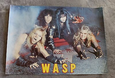 W.A.S.P. 1984 Blackie Lawless Doug Blair Mike Duda Dupke Music Poster GVG C5