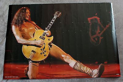 TED NUGENT Live Nude Behind Guitar 1980s? Rockon Holland Music Poster #RO 015 G