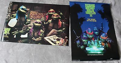 Teenage Mutant Ninja Turtles II Secret of Ooze 1991 2x Photo Poster SET EX C8