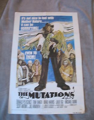 THE MUTATIONS 1974 Donald Pleasence HORROR Sci-FI One Sheet Poster VG EX C7