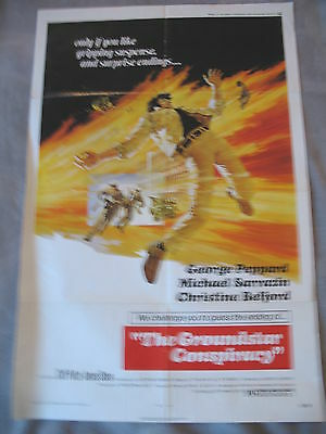 THE GROUNDSTAR CONSPIRACY 1972 George Peppard Lamont Johnson One Sheet VG C6