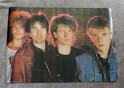 U2 1983 War Group Pic Bono The Edge Brick Wall Anabas Poster #AA102 EX C8