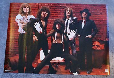 Reo Speedwagon 1980s Neal Doughty Kevin Cronin Bruce Hall Holland Poster VG C6
