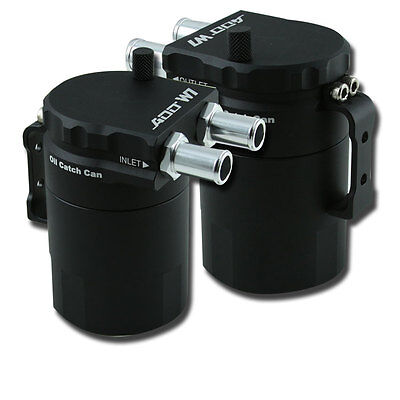 ADD W1 Oil Catch Tank Can Baffled Oil Catch can tank Universal Ver.1 BLACK