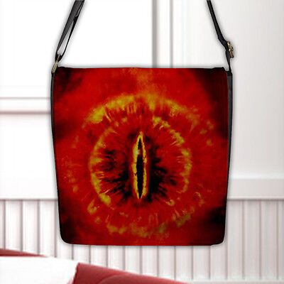 The Lord Of The Rings The Eye of Sauron Flap Closure Black Nylon Messenger Bag